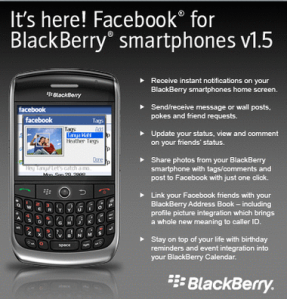Ứng dụng Facebook cho BlackBerry