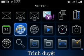 BlackBerry của RIM đã hỗ trợ ngôn ngữ Tiếng Việt