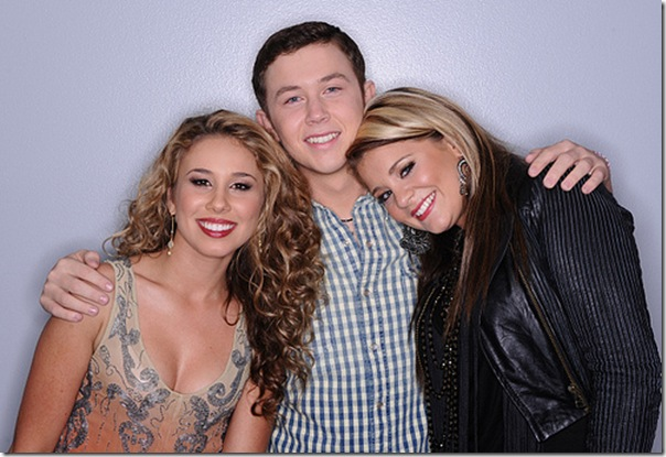 AMERICAN IDOL: The Final Three: L-R: Haley Reinhart, Scotty McCreery and Lauren Alaina. CR: Michael Becker / FOX.
