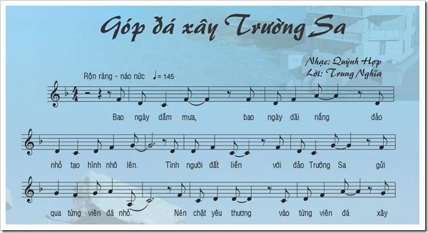 Gop da xay Truong Sa - Quynh Hop