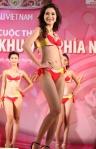 Chung kết Hoa hậu Việt Nam 2012 - Đặng Thu Thảo SBD 306. Cao 1,73m. Số đo ba vòng 83-60-90.