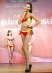 Chung kết Hoa hậu Việt Nam 2012 - Dương Thị Dung, SBD 009. Cao 1,77m Số đo ba vòng 82-62-90