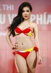 Chung kết Hoa hậu Việt Nam 2012 -Dương Tuyết Trinh, SBD 520. Cao 1,69m. Số đo ba vòng 83-64-92