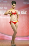 Chung kết Hoa hậu Việt Nam 2012 -Hoàng Diệu Linh, SBD 980. Cao 1,68m. Số đo ba vòng 81-59-90