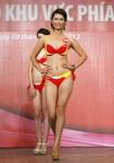 Chung kết Hoa hậu Việt Nam 2012 - Nguyễn Thị Minh Thu, SBD 559. Cao 1,70m Số đo ba vòng  83-61-91