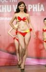 Chung kết Hoa hậu Việt Nam 2012 - Nguyễn Thị Thu Hương, SBD 281. Cao 1,76m. Số đo ba vòng 83-64-93.