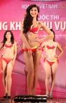Chung kết Hoa hậu Việt Nam 2012 - Nguyễn Thị Tuyết Ngọc, SBD 219. Cao 1,69m. Số đo ba vòng 80-59-88.