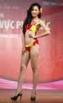 Chung kết Hoa hậu Việt Nam 2012 - Trần Thị Hoài Phương, SBD 342. Cao 1,73m. Số đo ba vòng 80-62-94.