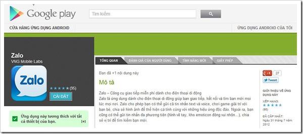 zalo zing chat phan mem chat mien phi free cua zing VietNam
